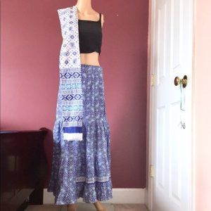 Dresses & Skirts - New 2pc Cotton Tie Skirt + Scarf OS